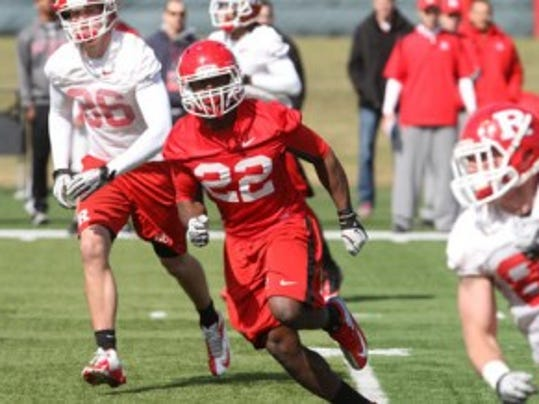 Rutgers redshirt sophomore defensive end Quanzell Lambert finished 2013 strong and could be a key factor in the pass rush in his first season as a starter.  (Jason Towlen/MyCentralJersey.com)