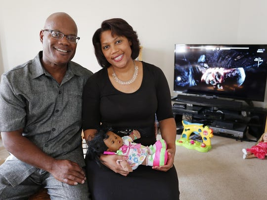 Foster parents Cordell and Mary Beth Kenner Thursday,