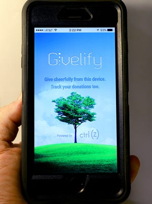 Givelify, a mobile app designed and operated by a local tech start-up team will be expanding next month. The app lets users donate to their favorite church, charity or any non-profit organization with only a couple taps on a  smart phone.