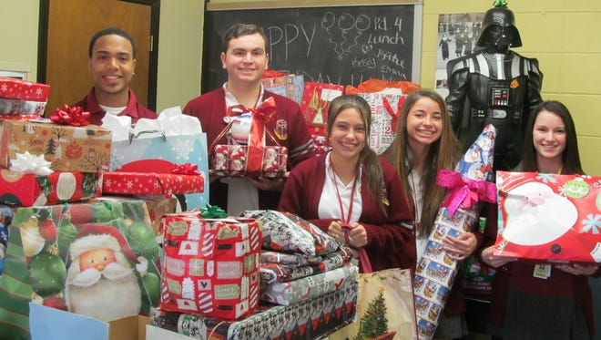 In conjunction with Catholic Charities, the BGA community also adopted five underprivileged families to support during the Christmas season.  Through generous student, faculty and BGA family donations, these families were now be able to experience Christmas when they might otherwise not have.