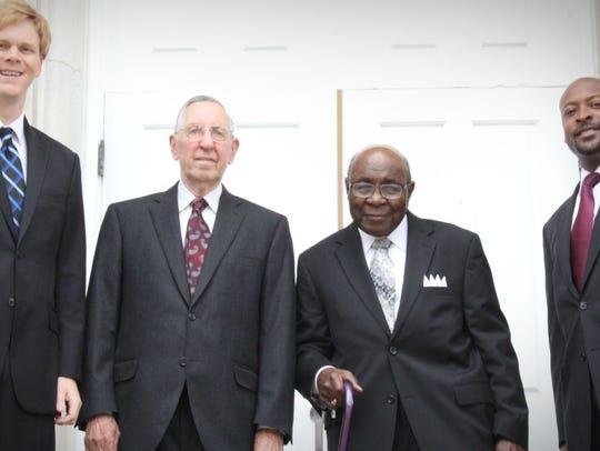 Pictured, from left, are the Revs. Noel Schookmaker,