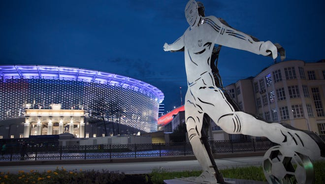 The World Cup is scheduled to begin Thursday when the host country, Russia, faces Saudi Arabia.