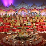 The festival of Diwali was held at BAPS Shri Swaminarayan Mandir in Parsippany. The festival includes the creation of an annakut or offering of vegetarian dishes to Bhagwan.