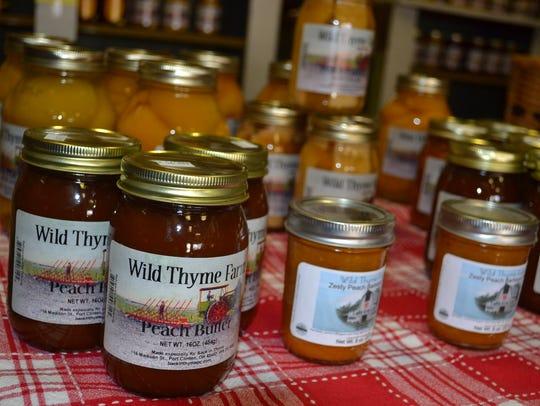 Wild Thyme Farm's produce fills shelves full of jars