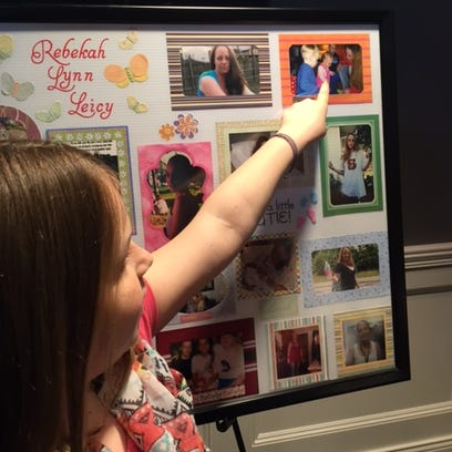 Mikayla Leicy, 10, daughter of the late Rebekah Leicy,