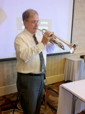 John Pursell is retired from his position as the senior ceremonial trumpeter with the United States Air Force Band.