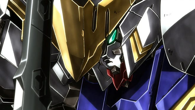 The tuned-up Barbatos makes a grand entrance in Gundam Iron-Blooded Orphans.