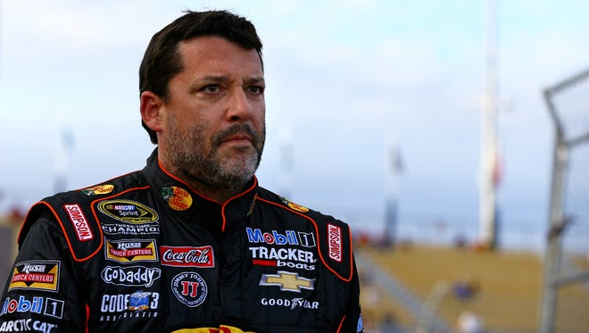 NASCAR Sprint Cup Series driver Tony Stewart during qualifying for the The Profit on CNBC 500 at Phoenix International Raceway.