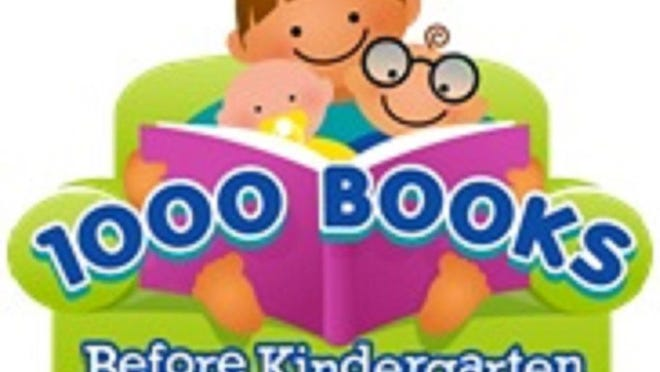 """The """"1,000 Books Before Kindergarten"""" program is available free to all families with children between the ages of birth and five years old."""