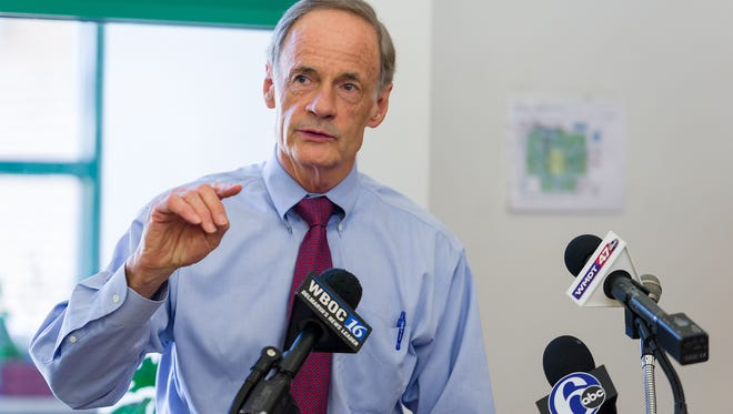 U.S. Sen. Tom Carper says that insurance companies providing plans on the state's Obamacare marketplace should be more transparent about the free tobacco cessation services they offer.