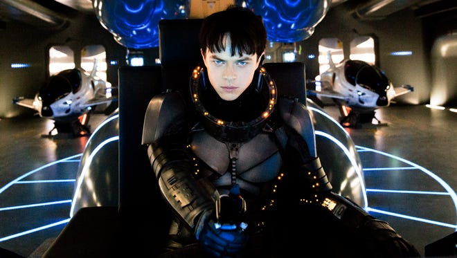 """Dane DeHaan appears in a scene from """"Valerian and the City of a Thousand Planets."""""""
