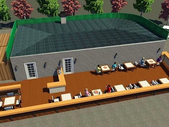 A new outdoor patio will be part of the Stone Pizza Company, taking the place of the former Park Avenue Pub.