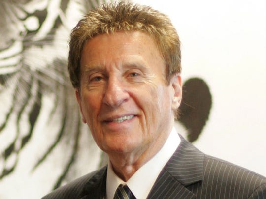 Mike Ilitch at the administrative offices of Comerica