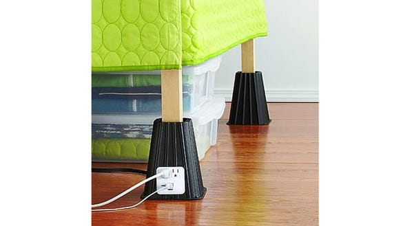 3 Bed Risers With Built In Outlets You Can Actually Reach