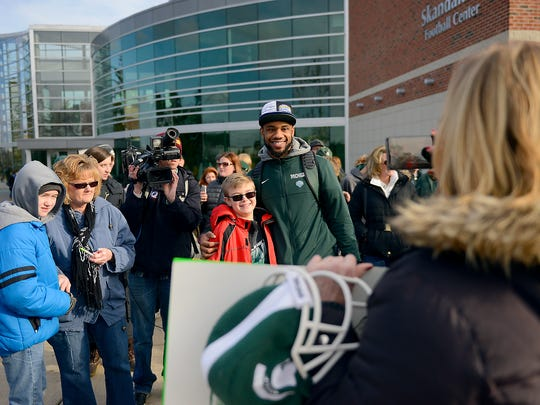 Spartan safety Kurtis Drummond poses for a picture