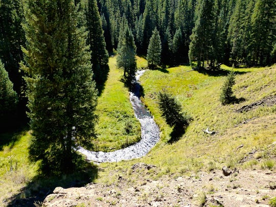 The West Baldy Trail swoops through a picturesque meadow