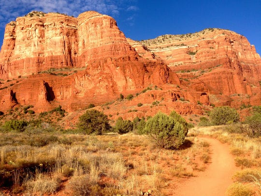 Courthouse Butte Loop, at 4.2 miles, makes a good introductory