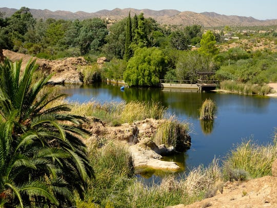 Ayer Lake is home for the endangered desert pupfish