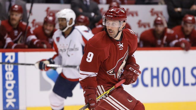 Arizona Coyotes center Sam Gagner skates against the Washington Capitals during the second period at Gila River Arena in Glendale on Nov. 18, 2014.