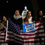 Democrats, pushed by grass-root protests, unifying Trump opposition