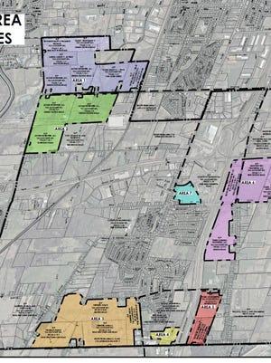 Area studied for Henrietta's Draft Environmental Impact Study.