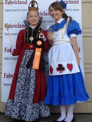 Martha & Clara Ainsworth of Martinsville as Alice & Queen of       Hearts from Alice in Wonderland.