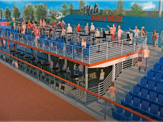 Artist rendering of the future Party Deck at NYSEG