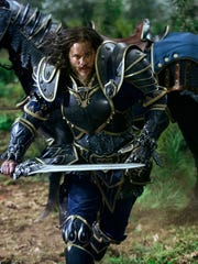 "Travis Fimmel is Commander Anduin Lothar in a scene from ""Warcraft."""