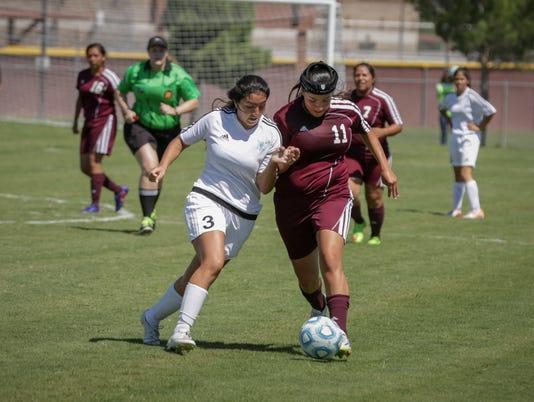 Oñate versus Gadsden Girls Soccer