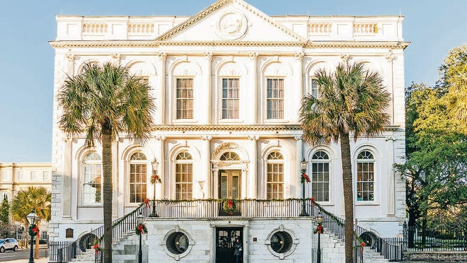 Charleston City Hall is one of the historic sites visited on holiday walking tours of the city.
