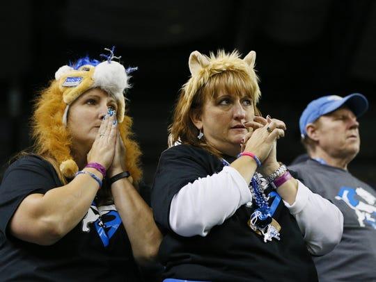 Detroit Lions fans in 2014.