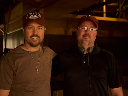 """Farmington natives Mark Gould, left, and Greg Tucker are two of the creative forces behind the new western """"Gone Are the Days."""""""