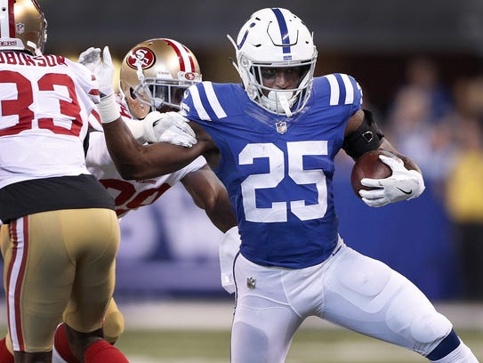 Rookie running back Marlon Mack already has three runs