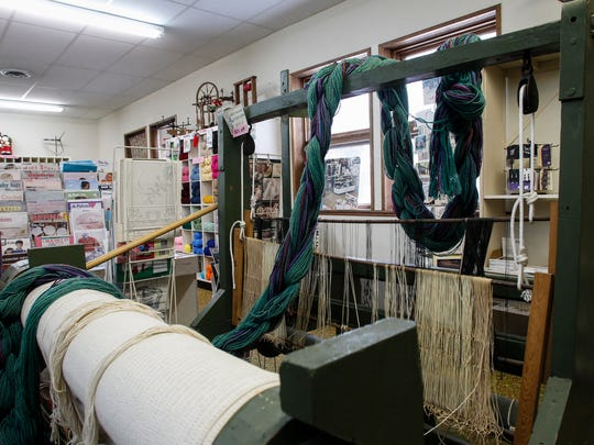 A used two-harness rug loom is one of many fiber arts