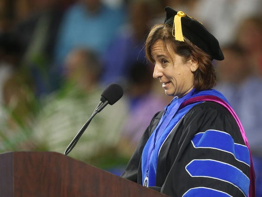 Tricia Farwell gives the commencement adress on Saturday,
