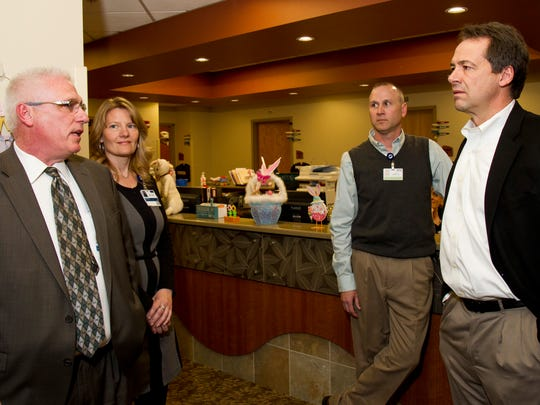 Governor Legislators Tour Benefis Talk Medicaid