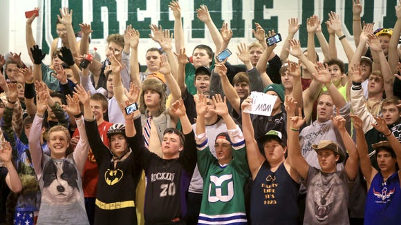 Christ School's student section.