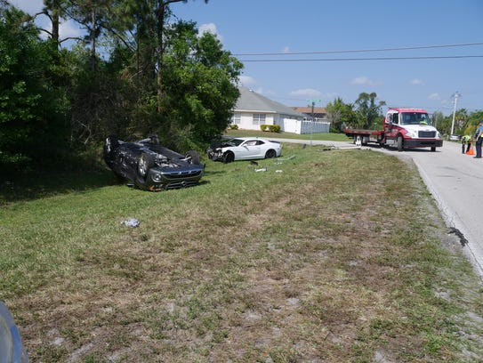 Two cars crashed in Port St. Lucie Friday after a drug