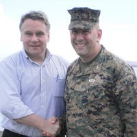 Marine never thought he'd serve 30 years