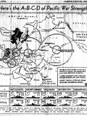 This graphic published Dec. 8, 1941, in the Journal & Courier attempts to explain the Dec. 7 attack.