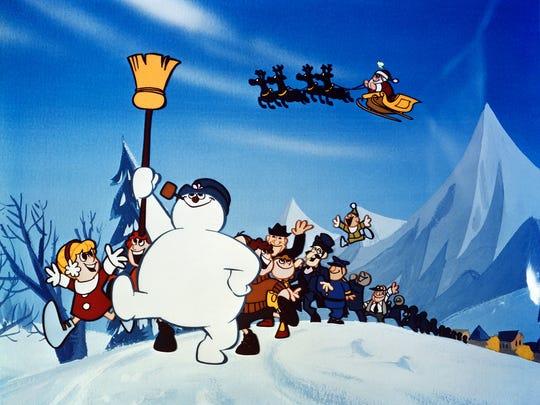 """Frosty, that """"jolly, happy soul"""" in a scene from """"Frosty"""
