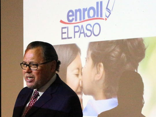 State Senator Jose Rodriguez speaks at a news conference