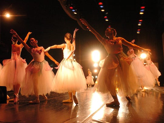 Cast members perform the `Waltz of the Flowers' during dress rehearsal of `The Nutcracker,' performed by Canyon Concert Ballet and the Fort Collins Symphony.