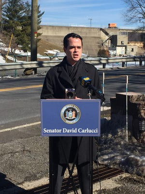 Sen. David Carlucci announced the results of a study of Rockland County dams' safety assessment in light of the Oroville Dam scare in California.