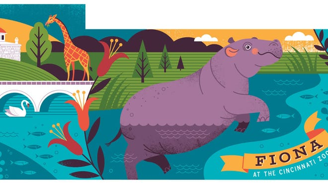 This is artist Lucie Rice's proposal for the Fiona mural.