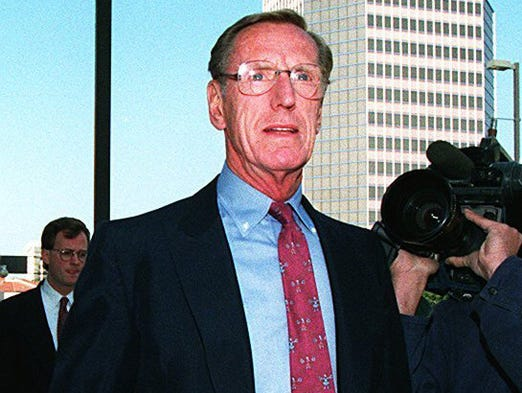 Phoenix developer Charles H Keating Jr., who was accused of fraud in a 1989 scandal that cost taxpayers billions of dollars, died March 31, 2014, at age 90. Keating pleaded guilty to wire and bankruptcy fraud.