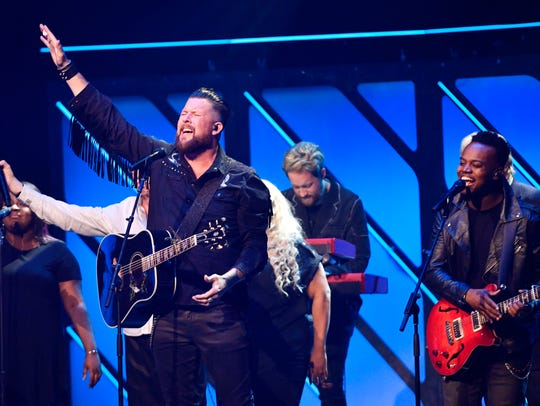 Zach Williams, who won New Artist of the Year,  performs