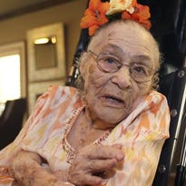 1. Gertrude Weaver. With the death on Wednesday of 117-year-old Japanese woman Misao Okawa, Weaver, an American, is now the world's oldest person. She was born July 4, 1898 and lives at a nursing home in Camden, Ark.