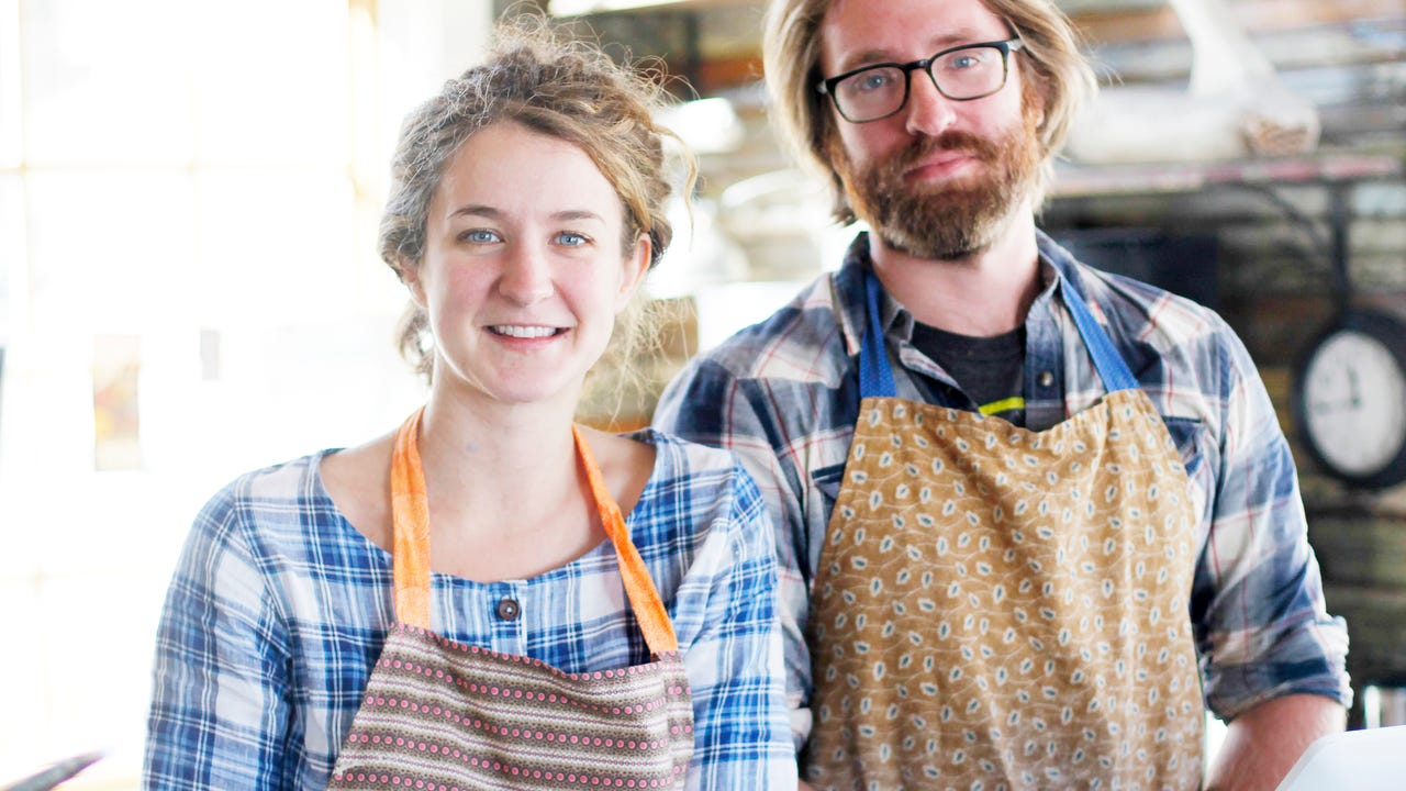 Hallee Hirsh and Ryan Martin are the new owners of Hole in West Asheville.