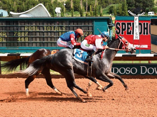 Executive Trust wins the Master Salls Handicap on Sunday.